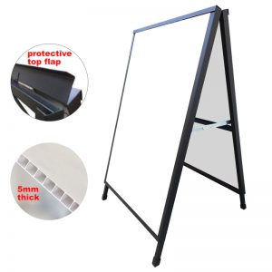 A Frame Sign Corflute Insertable 600x900mm Frame Only