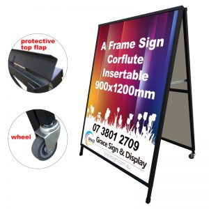 A Frame Sign Corflute Insertable 900x1200mm