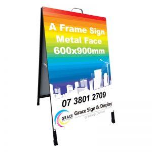 A Frame Sign Metal Face 600x900mm