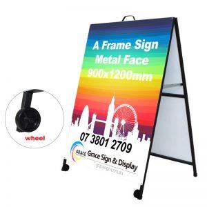 A Frame Sign Metal Face 900x1200mm
