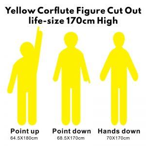 Yellow Corflute Man life size
